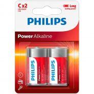Philips LR14 C Piles Alcalines 2 pcs