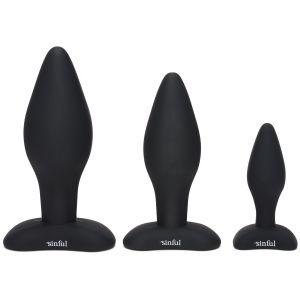Sinful BumBum Kit Plugs Anaux en silicone