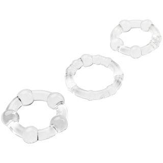 Baseks Ensemble d'anneaux péniens Triple Fun