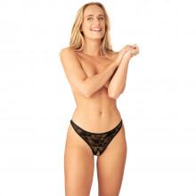 Nortie Siv Bundløs Blonde G-Streng Product model 1