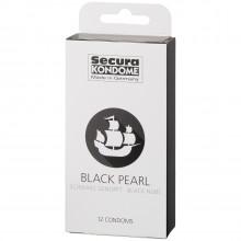 Secura Black Pearl Préservatifs 12 pcs  90