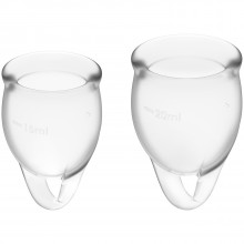 Satisfyer Feel Confident Menstruationskop Clear 2 pak Product 1