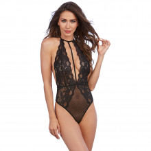 Dreamgirl One Size Lace and Mesh Teddy Product model 1