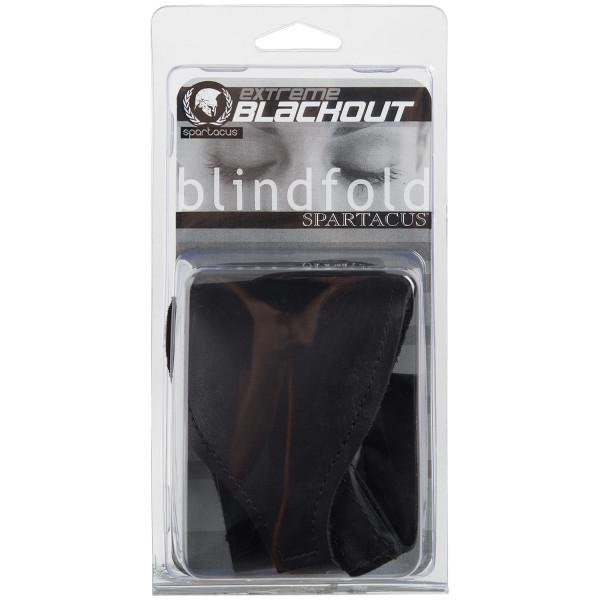 Spartacus Læder Blackout Blindfold Pack 90
