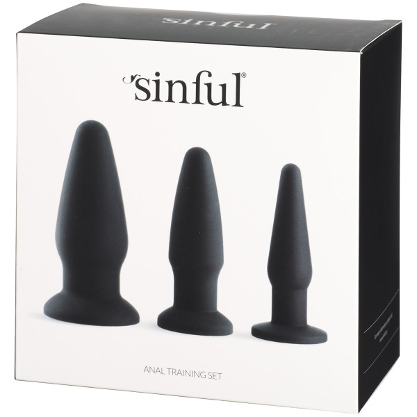 Sinful Anal Training Sæt Silikone Pack 90