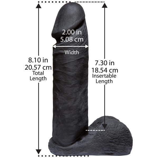 Vac-U-Lock CodeBlack Realistisk Penis 20 cm  2