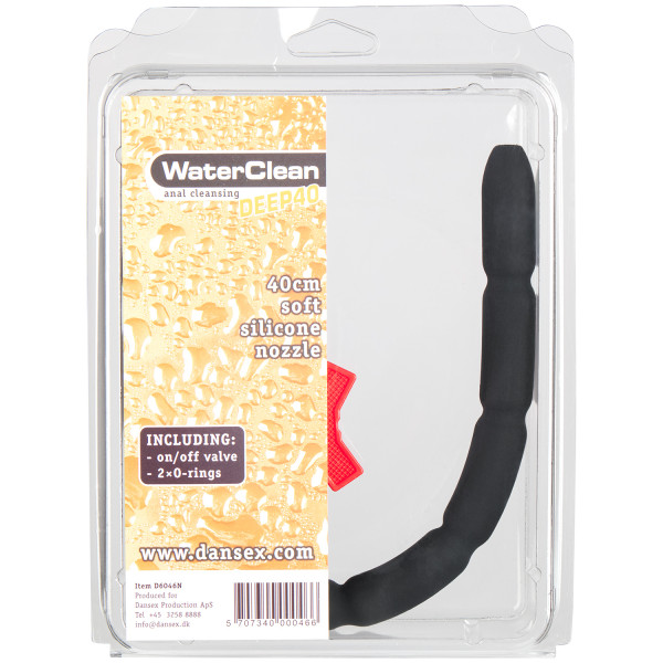Waterclean Deep Silicone Douche Anale 40 cm
