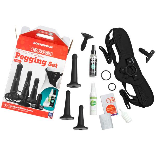 Vac-U-Lock Silikone Pegging Strap-On Sæt  3