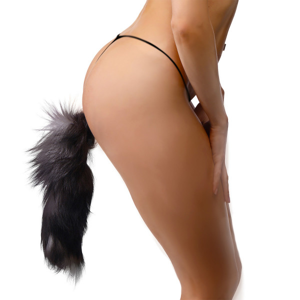 Tailz Grey Fox Tail Anal Plug  2
