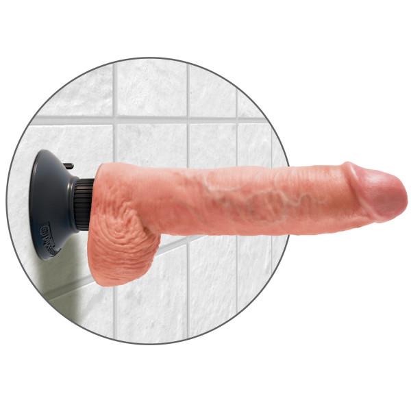 King Cock Vibrerende Dildo med Kugler 25 cm