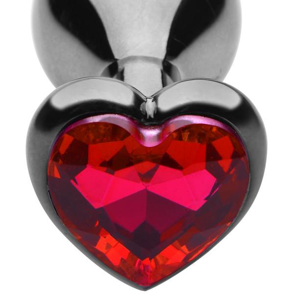 Master Series Crimson Tied Scarlet Heart Anal Plug  2