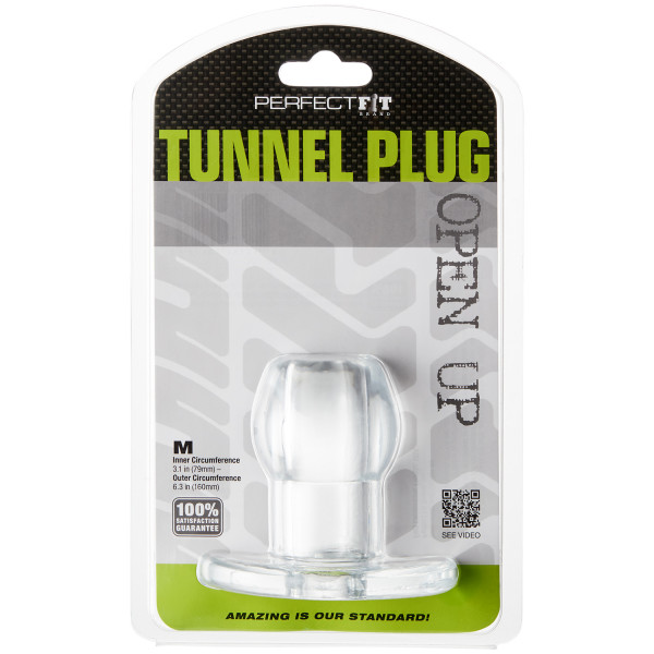 Perfect Fit Tunnel Buttplug Medium Clear Pack 90