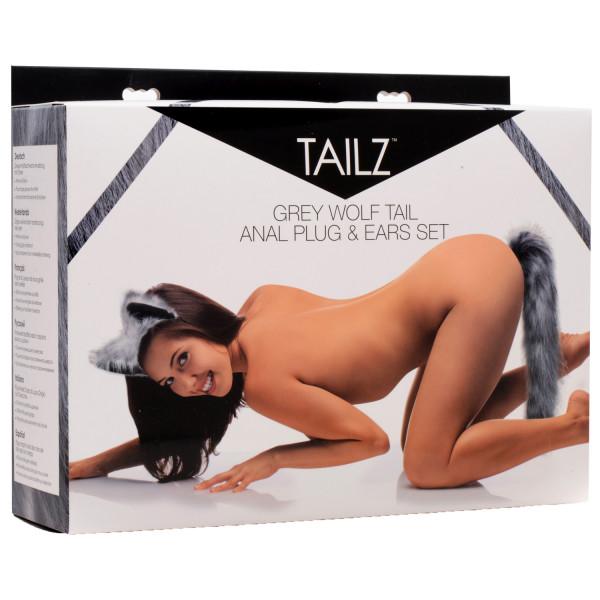 Tailz Grey Wolf Tail Anal Plug og Ører  4