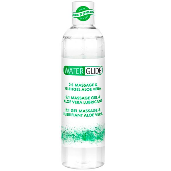 Waterglide Aloe Vera 2-i-1 Massageolie og Glidecreme 300 ml  1