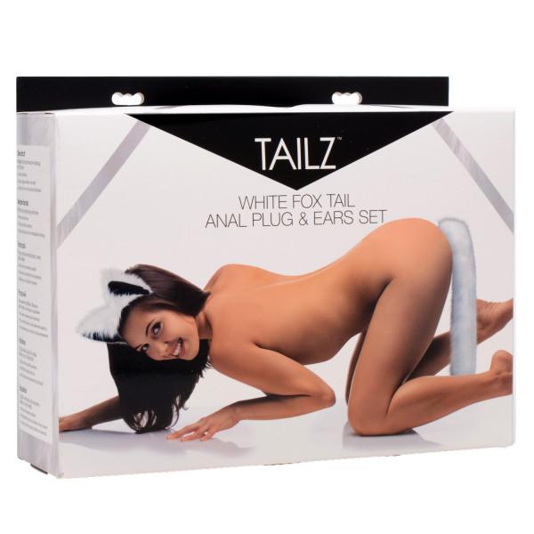 Tailz White Fox Tail Anal Plug og Ører  4