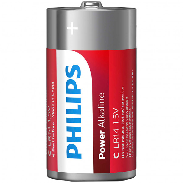 Philips LR14 C Alkaline Batterier 2 stk  2