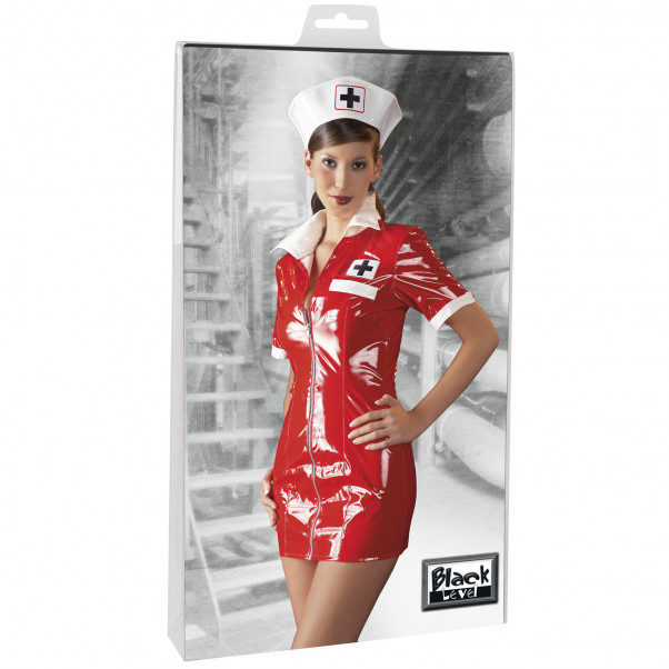 Black Level Sygeplejerske Kostume i Lak  2