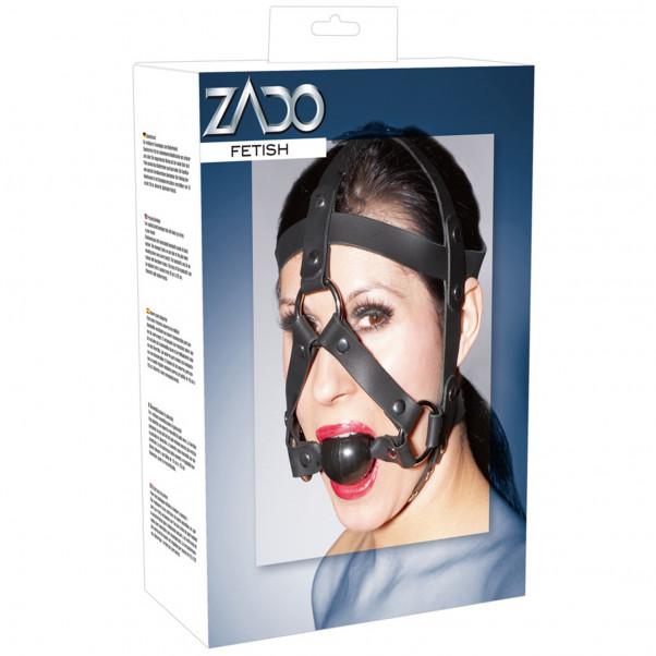 Zado Læder Hovedseletøj med Gag  2