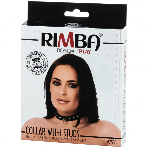 Rimba Justerbart Læder Halsbånd  Pack 90