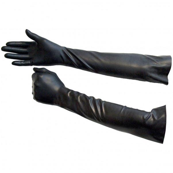 Lange Latex Handsker Sorte  1