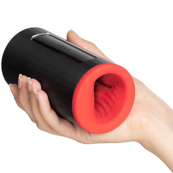 LELO F1S V2 Red Pleasure Console Masturbateur Image du produit avec des mains 50